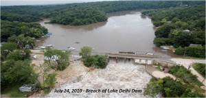 July24, 2010 - Breach of Lake Delhi Dam
