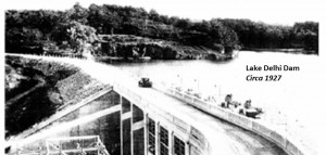 Lake Delhi Dam in 1927